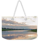 Sunset Over Union Bay Tall Panorama Weekender Tote Bag