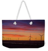 Sunset Over Windmills Field Weekender Tote Bag