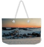 Sunset Over Winter Landscape Weekender Tote Bag
