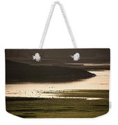 Sunset Over Yellowstone River In Yellowstone National Park Weekender Tote Bag