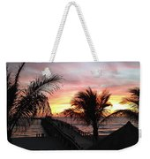 Sunset Palms At Sharky's On The Pier Weekender Tote Bag