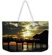Sunset Pier Reflection Weekender Tote Bag