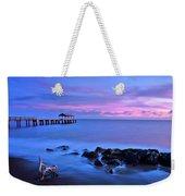 Sunset Pier Weekender Tote Bag