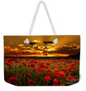 Sunset Poppies Fighter Command Weekender Tote Bag