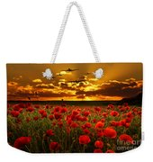 Sunset Poppies The Bbmf Weekender Tote Bag