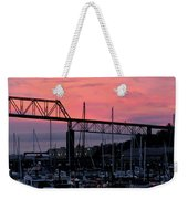 Sunset Port Weekender Tote Bag