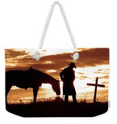 Sunset Prayer Weekender Tote Bag