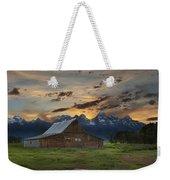 Moulton Barn Sunset Grand Teton National Park Weekender Tote Bag