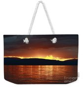 Sunset Red Weekender Tote Bag