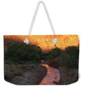 Sunset Reflection - Fremont River Weekender Tote Bag