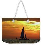 Sunset Sail Away Weekender Tote Bag