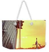 Sunset Ship Weekender Tote Bag