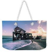 Sunset Shipwreck Weekender Tote Bag