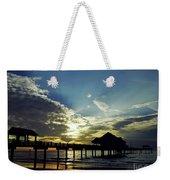 Sunset Silhouette Pier 60 Weekender Tote Bag