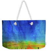 Sunset Silhouette With Canada Geese Weekender Tote Bag