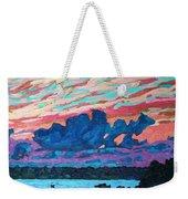 Sunset Snails Weekender Tote Bag