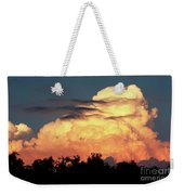 Sunset Storm Clouds Over The Marsh Weekender Tote Bag