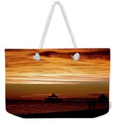 Sunset Stroll Along The Beach 2582 H_2 Weekender Tote Bag