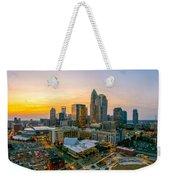 Sunset Sunrise Over Charlotte Skyline North Carolina Weekender Tote Bag
