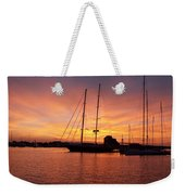 Sunset Tall Ships Weekender Tote Bag