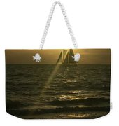 Sunset Through Sailboat Weekender Tote Bag
