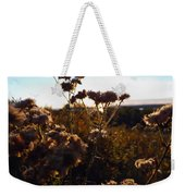 Sunset Through The Flowers Weekender Tote Bag