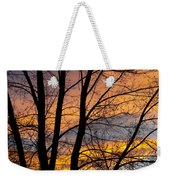 Sunset Through The Tree Silhouette Weekender Tote Bag