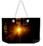 Sun Bursting Through The Trees, Chiloquin Oregon Weekender Tote Bag