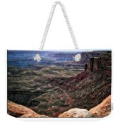 Sunset Tour Valley Of The Gods Utah Text 04 Weekender Tote Bag