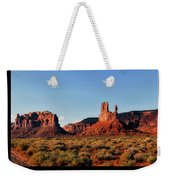 Sunset Tour Valley Of The Gods Utah Text 09 Black Weekender Tote Bag