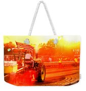 Sunset Tractor Pull Weekender Tote Bag