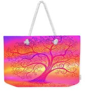 Sunset Tree Cats Weekender Tote Bag