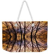 Sunset Tree Silhouette Abstract 1 Weekender Tote Bag