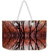 Sunset Tree Silhouette Abstract 2 Weekender Tote Bag