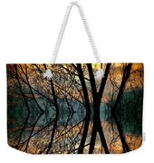Sunset Tree Silhouette Abstract 3 Weekender Tote Bag