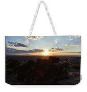 Sunset Valley Of The Gods Utah 01 Text Weekender Tote Bag