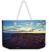 Sunset Valley Of The Gods Utah 03 Text Black Weekender Tote Bag