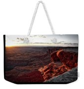 Sunset Valley Of The Gods Utah 09 Text Black Weekender Tote Bag