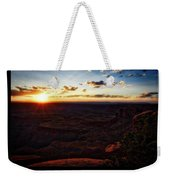 Sunset Valley Of The Gods Utah 11 Text Black Weekender Tote Bag