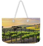 Sunset Vineyard Weekender Tote Bag by Sharon Foster