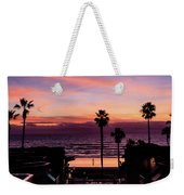 Sunset Walker Weekender Tote Bag