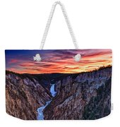 Sunset Waterfall Weekender Tote Bag