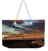 Florida Sunset Winding Road Weekender Tote Bag