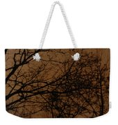 Sunset Winter Weekender Tote Bag