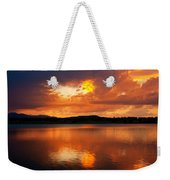 Sunset With A Golden Nugget Weekender Tote Bag