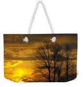 Sunset With Backlit Trees Weekender Tote Bag