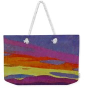 Sunset With Purple Clouds Weekender Tote Bag