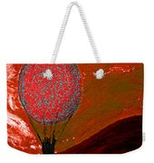 Sunset With Red Hot Air Balloon. Weekender Tote Bag