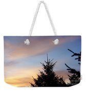 Sunset With Two Pine Trees Weekender Tote Bag
