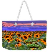 Sunsets And Sunflowers Weekender Tote Bag